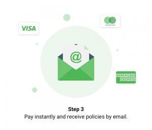 Pay instantly and receive policies by email